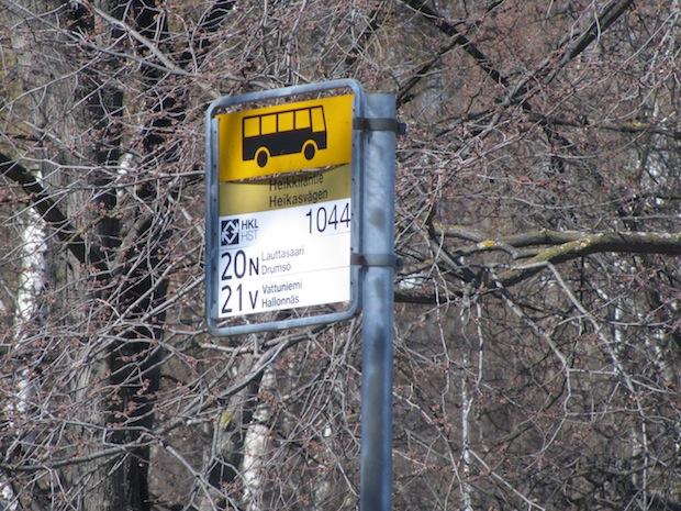 Helsinki public bus