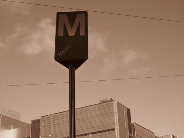 Metro stop at Ruoholahti