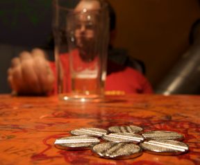 Beer and coins in Zavood
