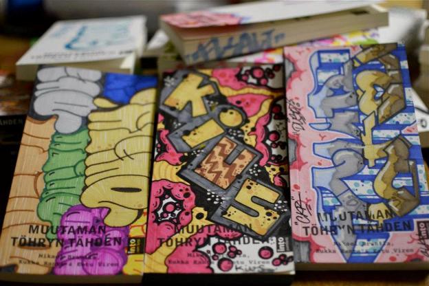 Unique graffiti designs for the cover of the book